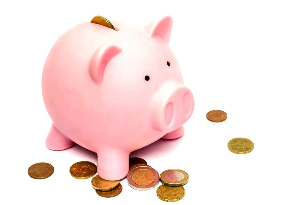 Piggy bank represents savings